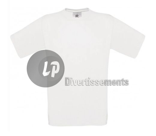 T-Shirt blanc pour homme TAILLE S